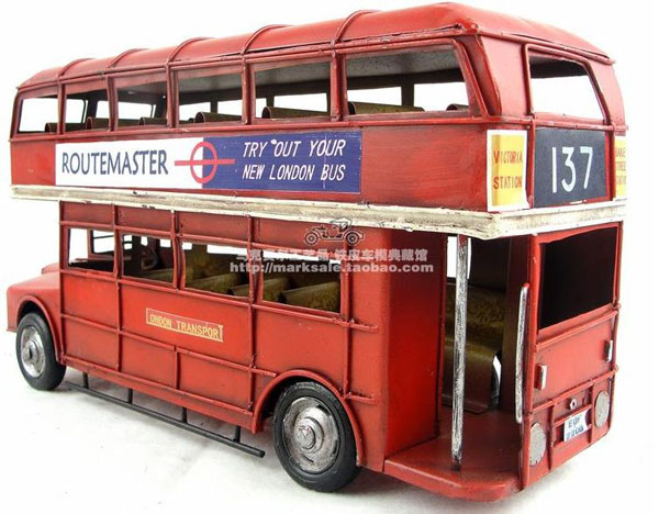 Medium Scale Red 1905 Year Double Decker London Bus Model