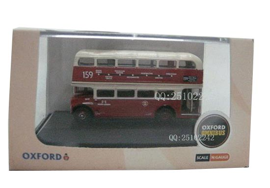 Mini 1:76 Scale Red OXFORD Brand Double Decker Bus Model