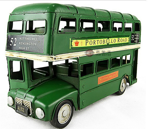 Medium Scale Red /Green 1905 Year Double Decker London Bus Model