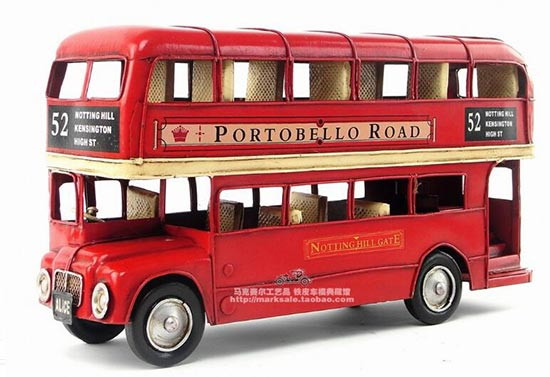 Large 1:18 Scale Red 1905 Year Double Decker London Bus Model