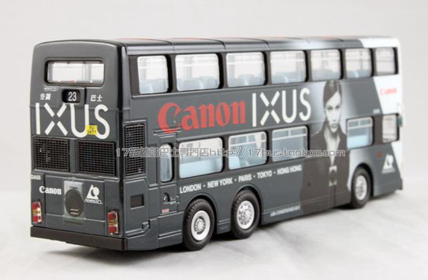 1:76 Scale Gray-White NO.23 Hong Kong Double Decker City Bus