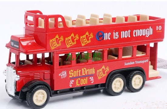 Mini Scale Kids Yellow / Red / Blue Double Decker Tour Bus