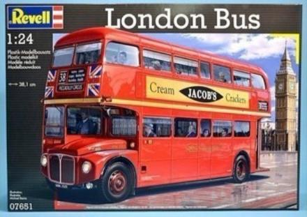 Revell 1:24 Scale Red Plastics Made Double Decker London Bus