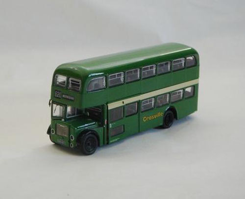 Mini 1:64 Scale Green Kids Double Decker London Bus