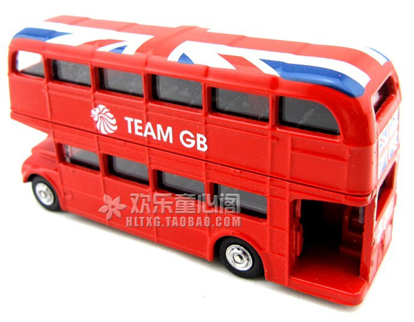 Mini Scale Red CORGI Brand London Double Decker Bus Toy