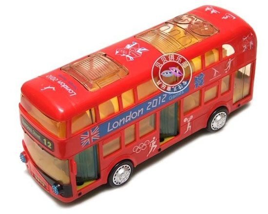 Long Size Red Electric London 2012 Olympic Bus Toy