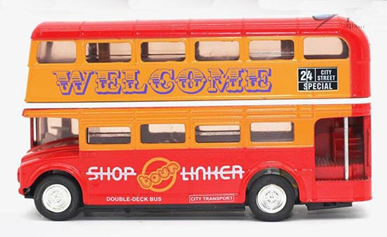 1:50 Scale Kids Red London Double-decker Bus Toy