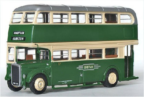 1:76 Green EFE British Leyland Chieftain Double Decker Bus Model