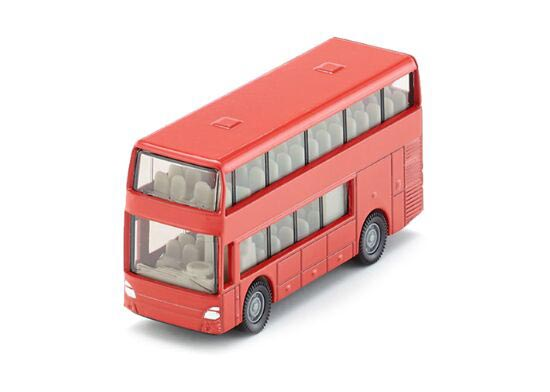 Mini Scale Kids Red SIKU 1321 Double Decker Bus Toy