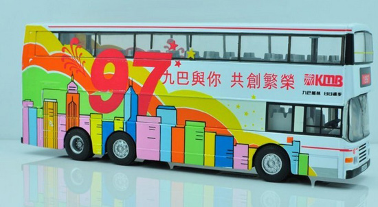 1:76 White CORGI 1997 Commemorative Return of HongKong Bus Model