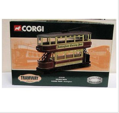 1:76 Scale Red Old-fashioned England Double Decker Trolley Bus