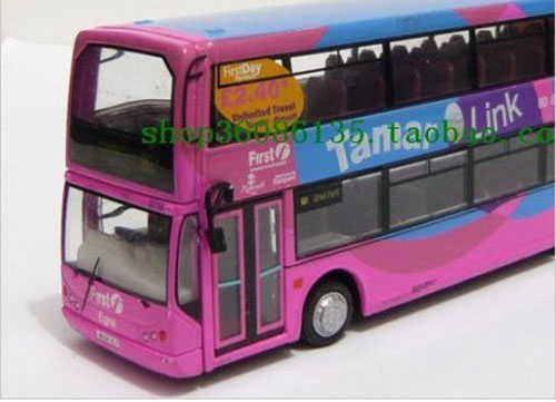 1:76 Scale Pink CORGI brand TORPOINT 80 Double Decker Bus Model