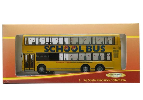 1:76 Yellow Creative Master Northcord Double-deck School Bus