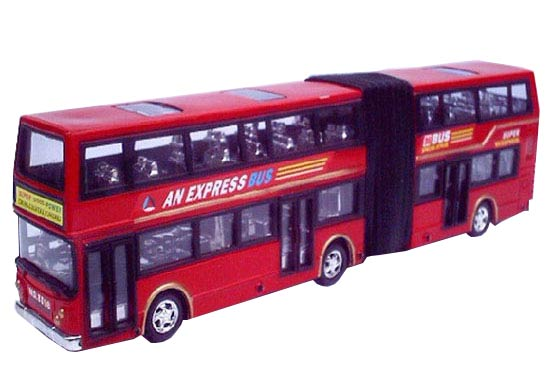 Large Scale Red Articulated Design Double Decker Bus Toy
