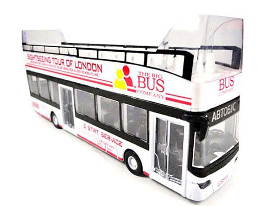 1:32 White Cabrio Sightseeing Tour London Double Decker Bus