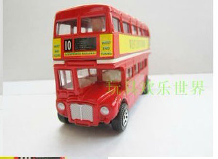 Medium Size Kids Red London Double Decker Bus Toy