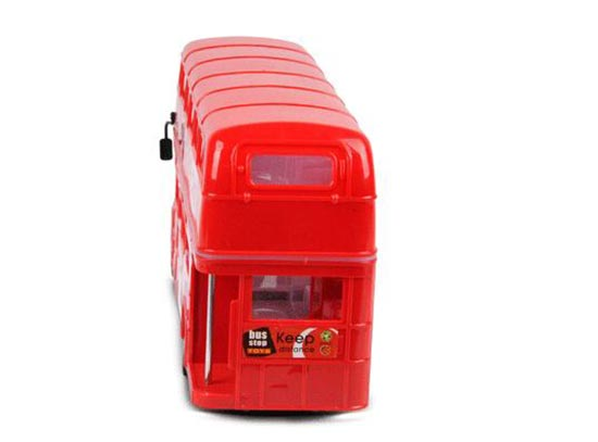 Large Scale Red Electric London Double Deck Bus Toy
