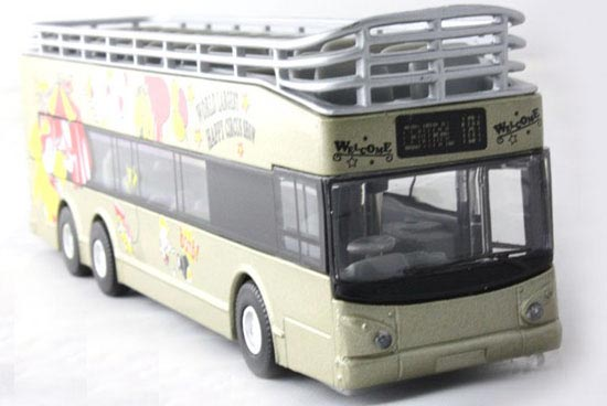 1:32 Scale Red Cabrio Style Double Decker Tour Bus Toy