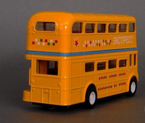 Kids Red / Blue / Yellow / White Double-Decker Bus Toy