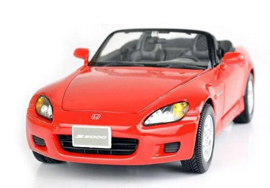 Blue / Red 1:18 Scale Maisto Die-Cast Honda S2000 Model