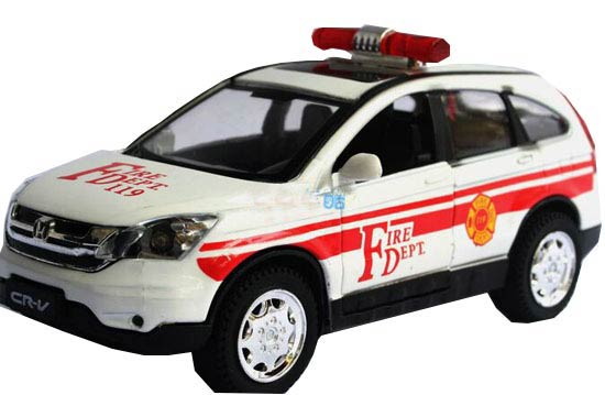 1:32 Scale Fire Dept White / Red Die-Cast Honda CR-V Toy