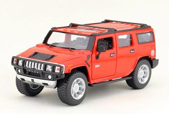White / Black / Yellow / Red Kids Die-Cast Hummer H2 Toy