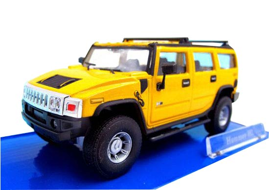 Black /Yellow / Red / Gray 1:43 Scale Cararama Diecast Hummer H2