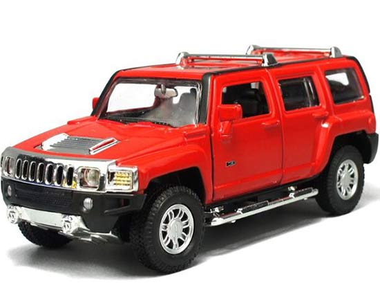 Black / Yellow / Silver / Red 1:32 Kids Die-Cast Hummer H3 Toy