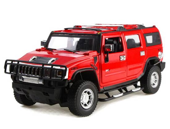 1:24 Red / Blue / Army Green Diecast Hummer H2 Model