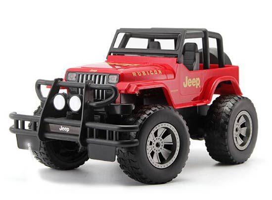 Kids Red / Yellow 1:12 Full Functions R/C Jeep Rubicon Toy