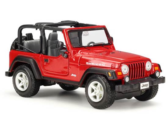 1:27 Scale Red / Black /Khaki Maisto Die-Cast Jeep Rubicon Model