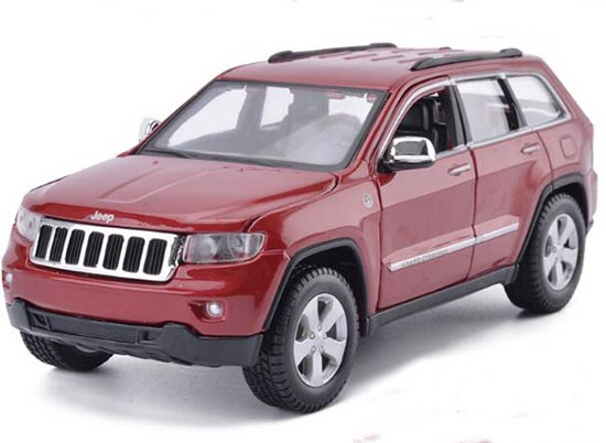 Red / White 1:24 Scale Maisto Jeep Grand Cherokee Laredo Model