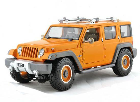 Orange 1:18 Scale Maisto Die-Cast Jeep Commander Model
