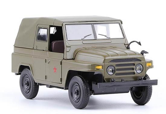 Kids 1:24 Scale Army Green Die-Cast Army Theme Jeep Toy