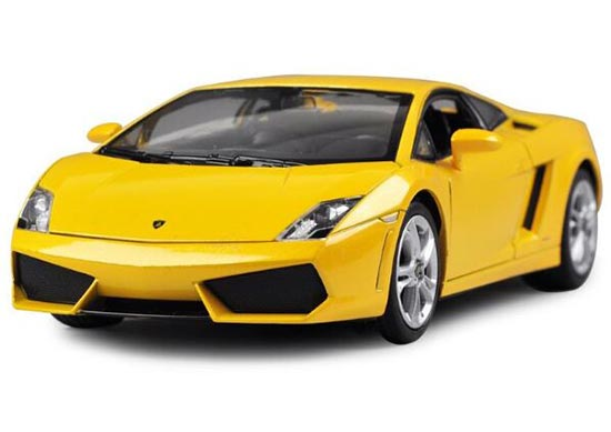 White / Black / Yellow 1:24 Welly Lamborghini Gallardo LP560-4