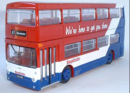 1:76 Scale Red Alloy Made London Double Decker Bus Toy Model