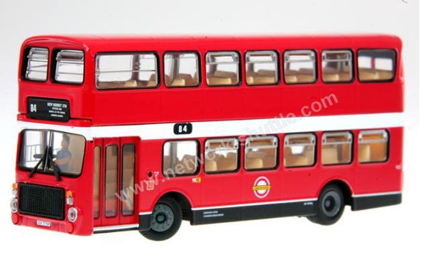 1:76 Scale NO.84 Red London Double Decker Bus Toy Model