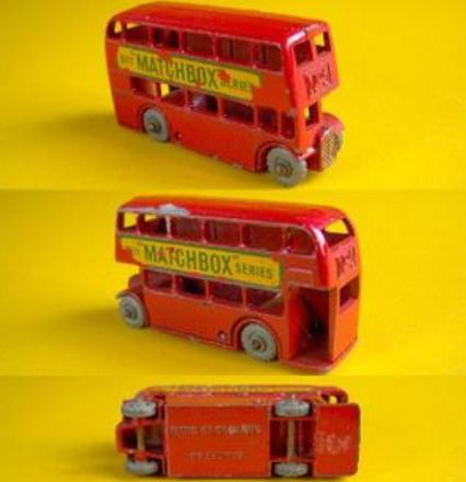 1:200 Scale Red Matchbox London Double Decker Bus Model