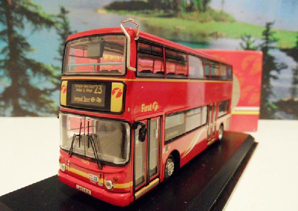 1:76 Scale NO.23 Red London Double Decker Bus Model