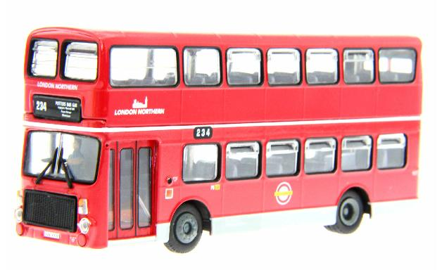 1:76 Scale NO.234 Red London Double Decker Bus Model
