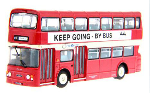 Red 1:76 Scale London Double Decker Bus Model