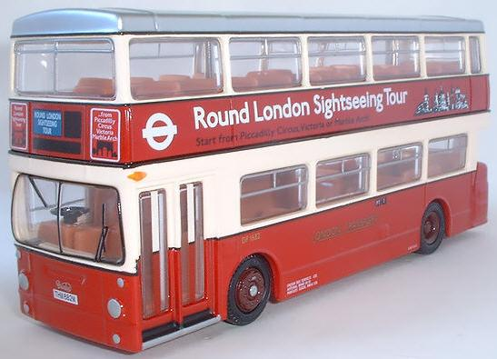 Red 1:76 Scale Alloy Made London Double Decker Bus Model