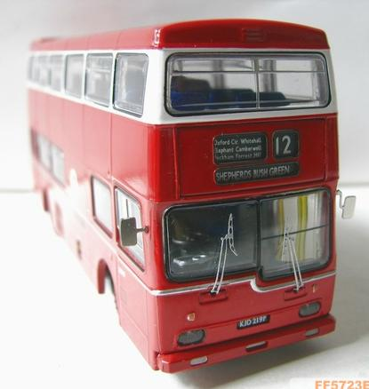 1:76 Scale Britbus Red NO.12 London Double Decker Bus