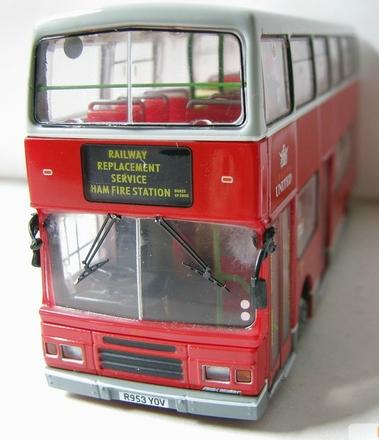 1:76 Scale Red Alloy Made London Double Decker Bus Model