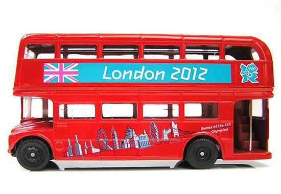 1:64 Scale CORGI Brand Red London Double Decker Bus Toy
