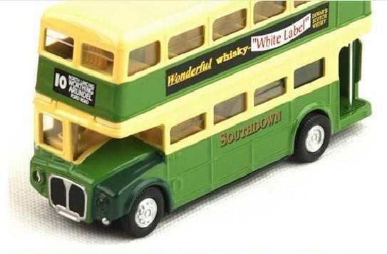 1:43 Scale Light Green Kids London Double Decker Bus Toy