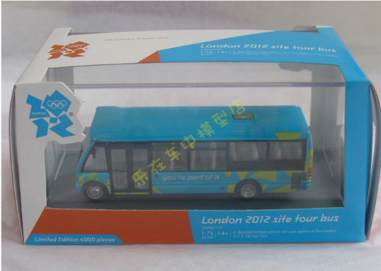1:76 Scale Blue CORGI London Single-Decker Tour Bus Model