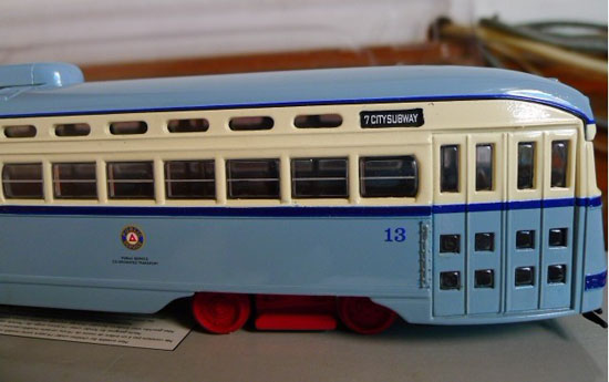1:50 Scale Blue Limited Edition CORGI Brand City Tramcar Bus