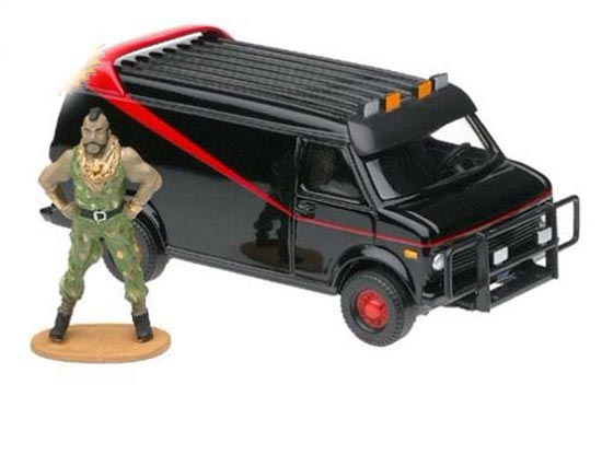 Black THE A-TEAM Theme CORGI Brand Diecast GMC VAN Model