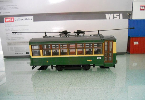 1:48 Scale Green CORGI Brand Trolley Bus Model